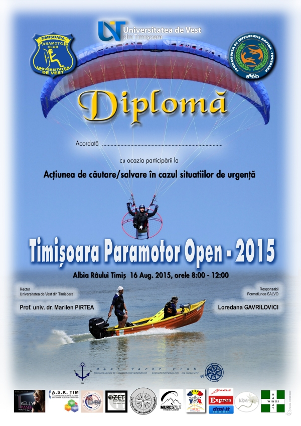 Dipl Timisoara Paramotor Open 2015