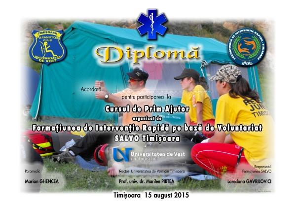 Diploma curs paramedic-paramotor 2015